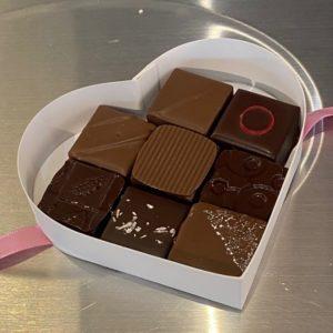 Boite coeur 8 chocolats